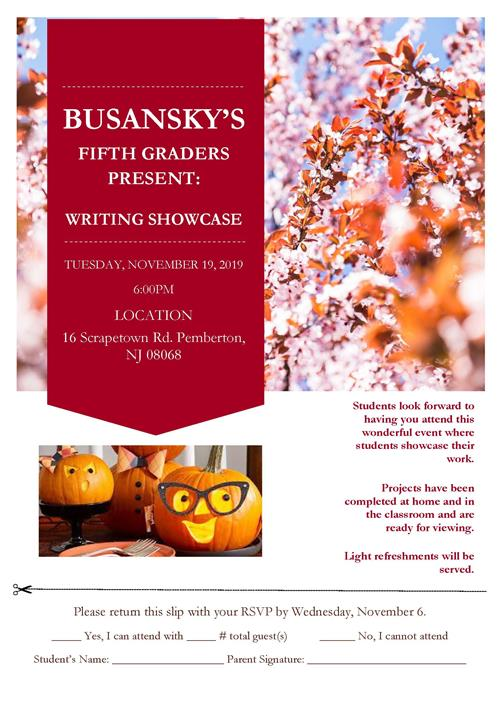 Writing Showcase