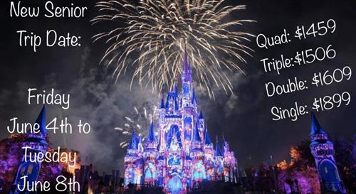 Disney Trip dates and prices