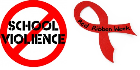 School Violence Awareness Week & Red Ribbon Week!