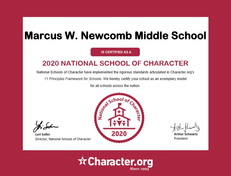 2020 National School of Character