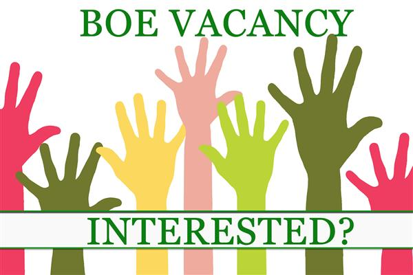 Board of Education Seat Vacancy--Apply Now